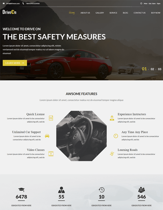 driveon car vehicle automotive wordpress themes