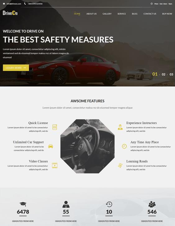 driveon car vehicle automotive wordpress themes
