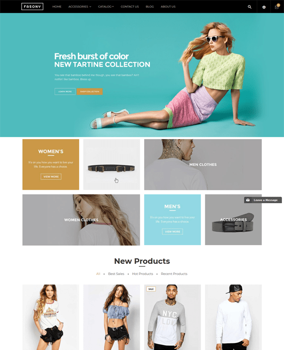 fasony fashion shopify themes clothing stores