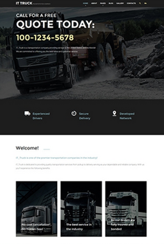 it truck transportation joomla templates