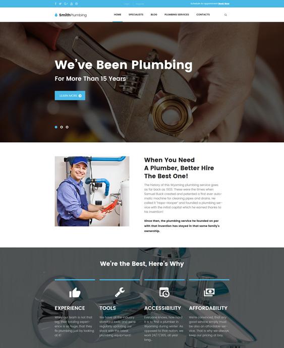 SmithPlumbing - Maintenance and plumbing companies plumbers wordpress themes