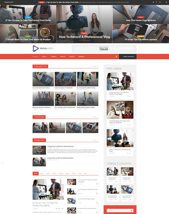 socialvideo video website wordpress themes