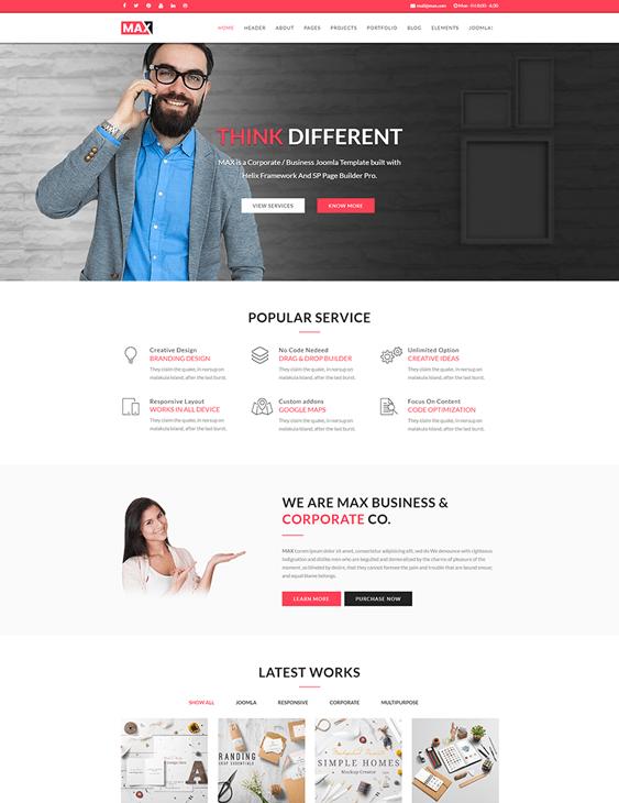 joomla templates advertising agency