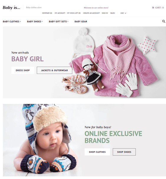 babyis baby kids children Magento Themes