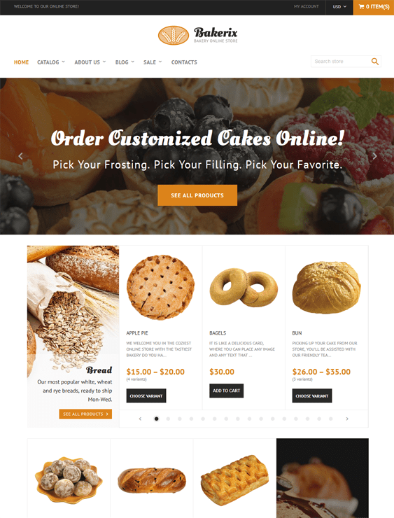 bakeries cupcake shops bakery shopify themes