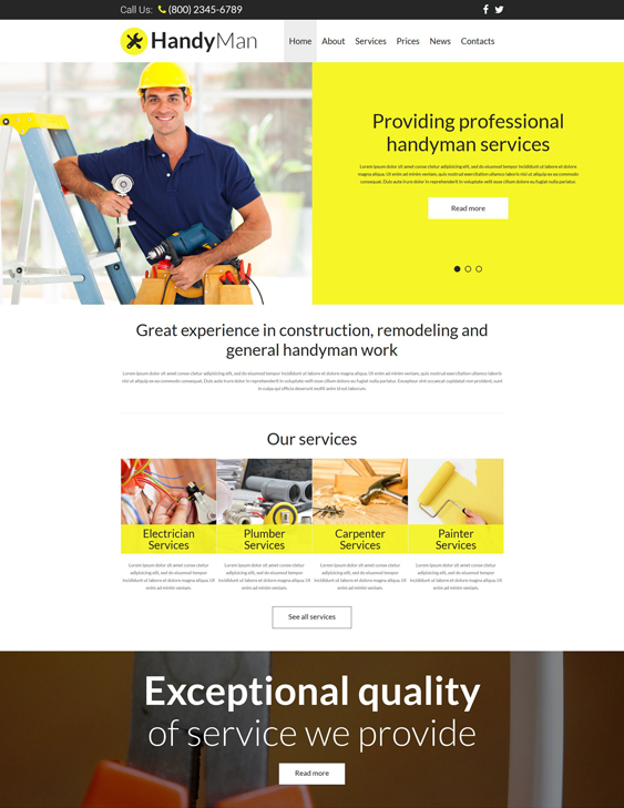 joomla templates construction companies building contractors