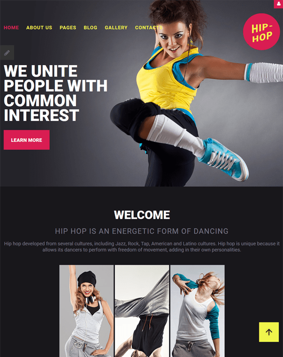 hiphop joomla template dance studio teacher