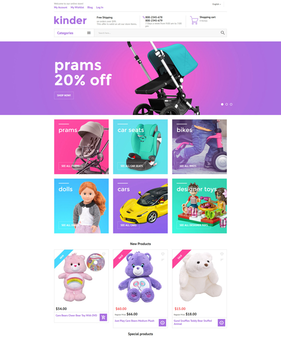 Kinder baby kids children Magento Themes