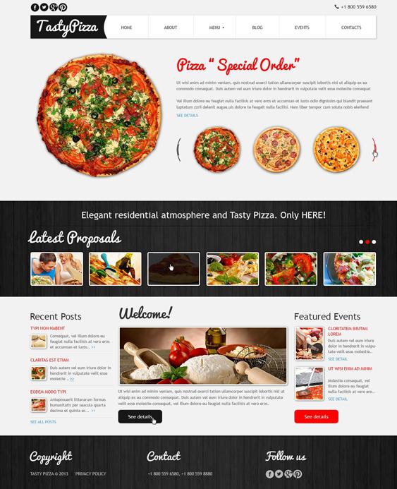Pizza to Kill Hunger italian restaurant joomla templates