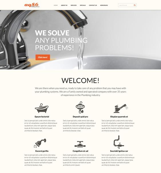 joomla template plumbing companies plumbers Responsive