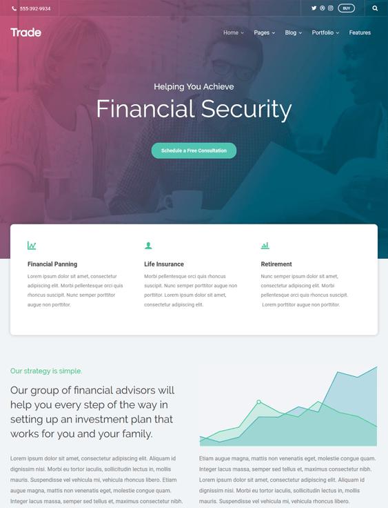 trade finance financial wordpress themes