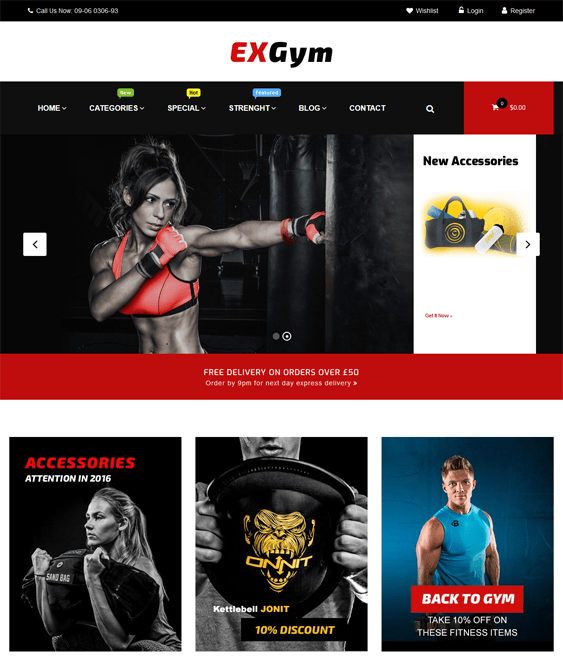 exgym gym fitness wordpress themes