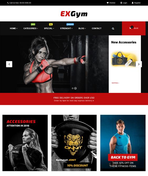 exgym gym fitness wordpress themes