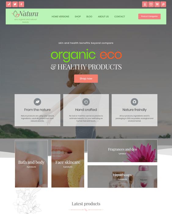 natura green organic eco friendly wordpress themes