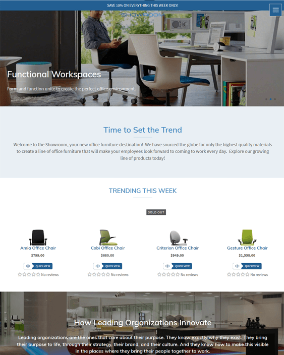 shopify themes for furniture stores