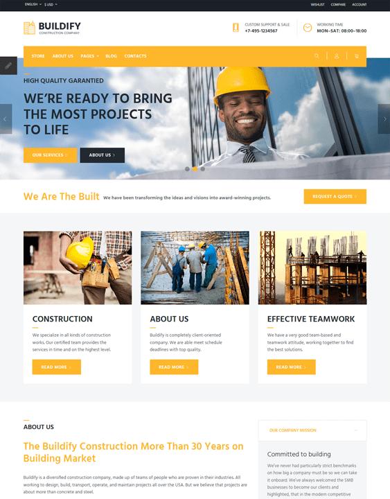 joomla templates construction companies building contractors