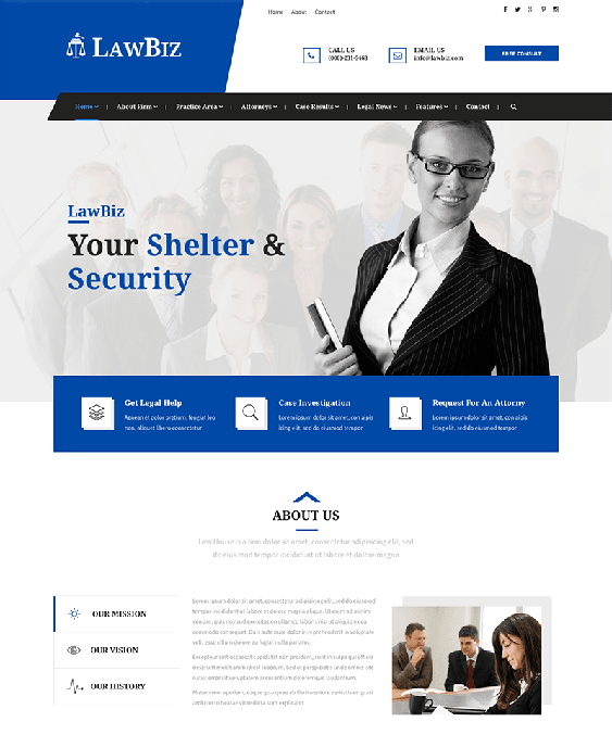 Of The Best Bootstrap Website Templates For Lawyers Attorneys - Lawyer website template