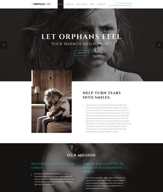 charity nonprofit bootstrap website templates