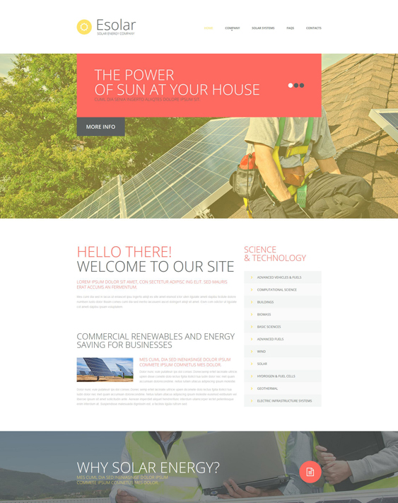 bootstrap website templates solar wind alternative energy companies