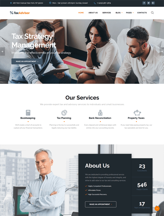 Of The Best Finance Bootstrap Website Templates For Financial - Tax website templates