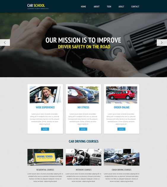 5 of the best bootstrap website templates for driving instructors