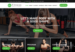 best gym fitness joomla templates feature