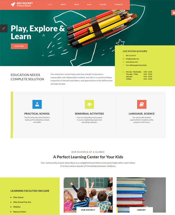 education joomla templates