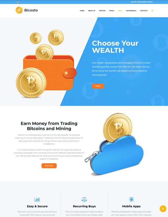 finance wordpress themes for financial websites
