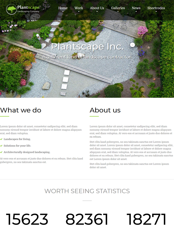 wordpress themes gardeners landscapers