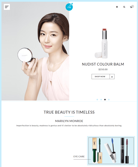 shopify themes cosmetics beauty stores
