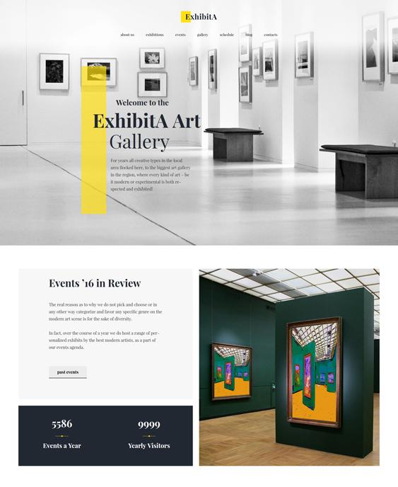 art gallery wordpress theme