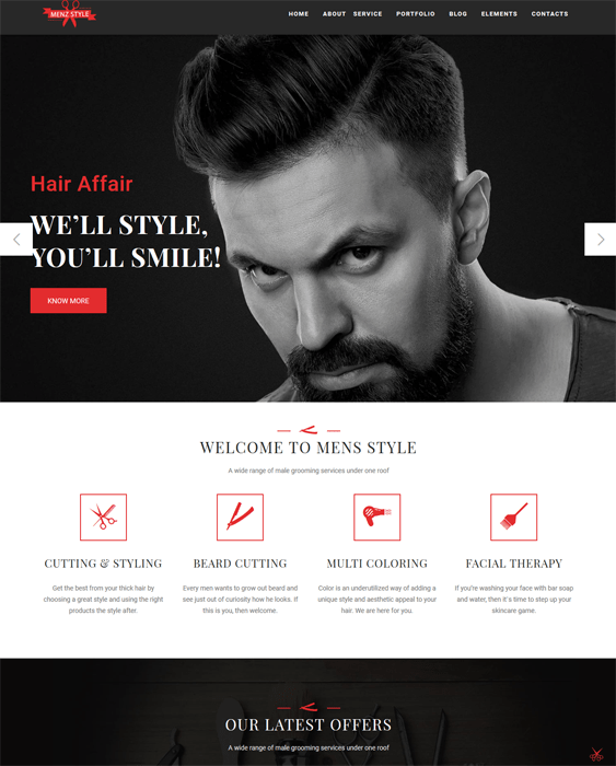 nail salon barbershop hair stylist joomla templates