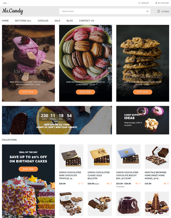 food drink shopify themes