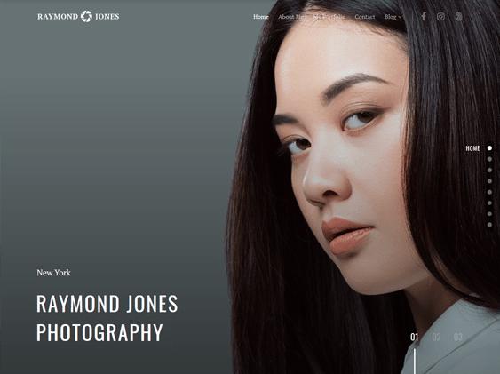minimal portfolio wordpress themes photographers photography studios