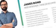 best cv resume wordpress themes feature