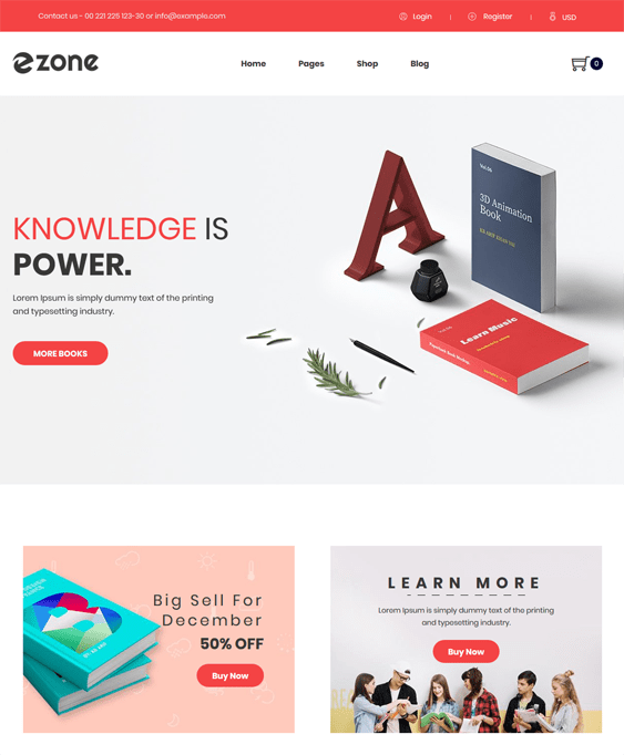 shopify themes for selling books
