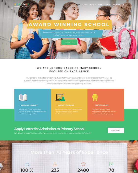 education joomla templates schools online learning