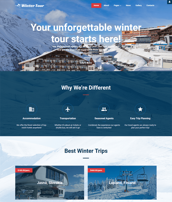 travel tourism joomla templates