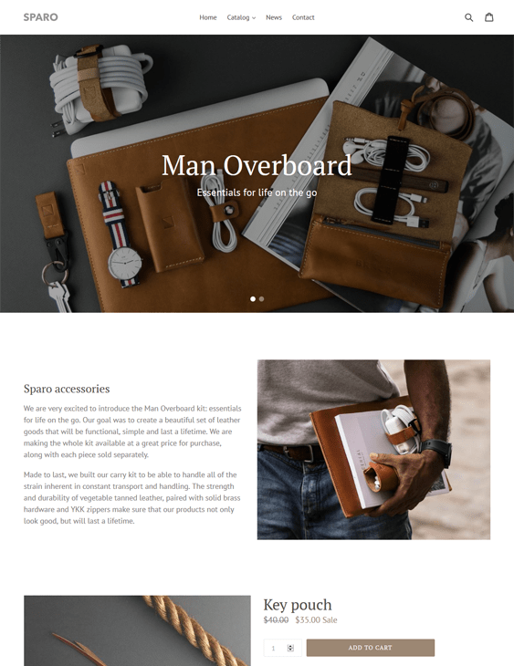 free best shopify themes men's clothing accesories