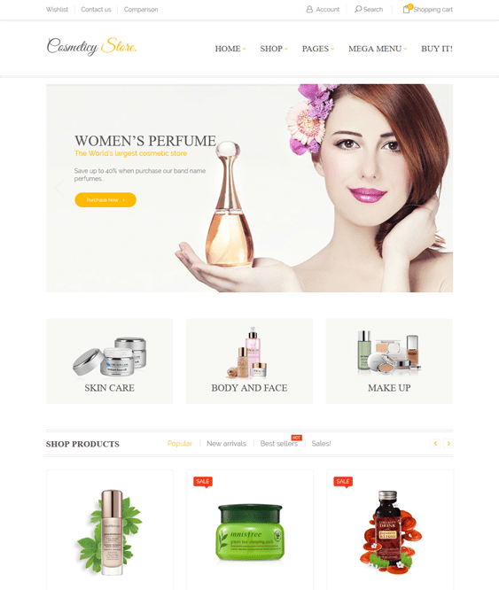 woocommerce themes beauty products perfume makeup cosmetics