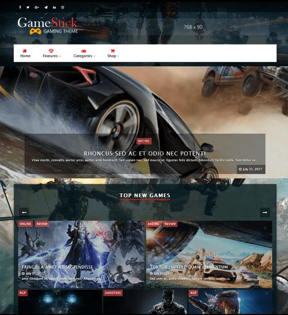 wordpress themes gaming gamers