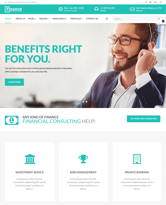 finance joomla templates financial websites