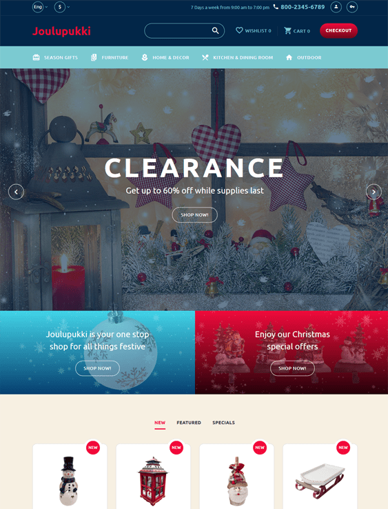 opencart themes for gift shops
