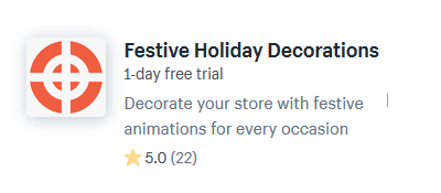 shopify apps plugins decorate online store christmas holiday season