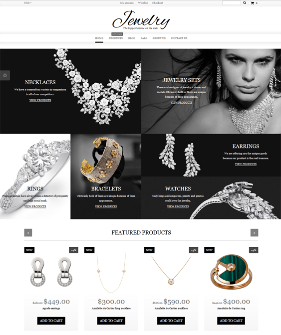 shopify themes jewelry watch stores
