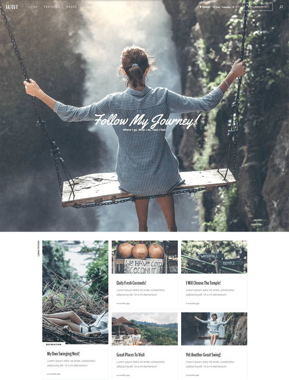 wordpress themes travel blogs websites