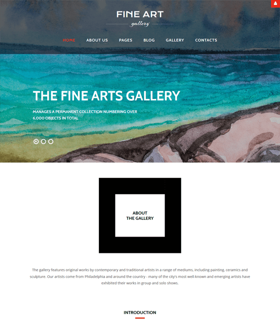 art gallery joomla templates