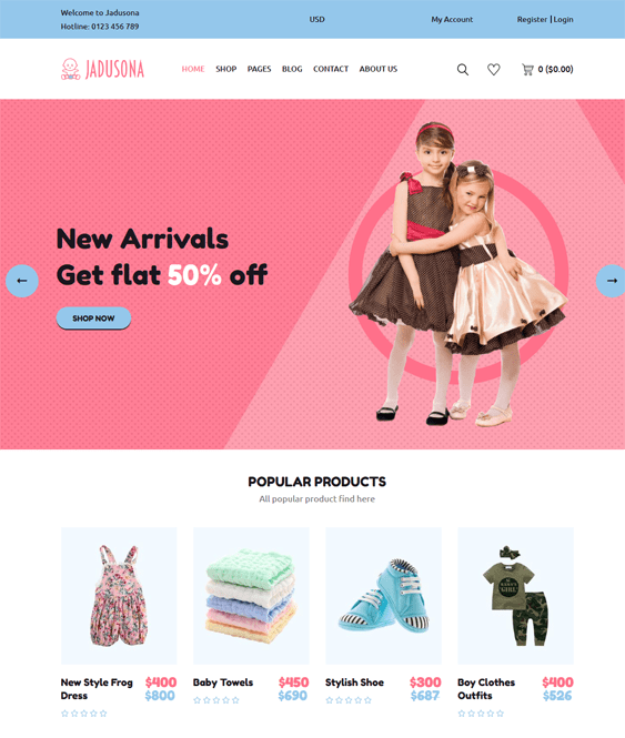 kids shopify themes for children babies