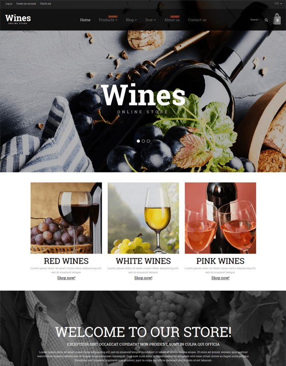 shopify themes for wine stores