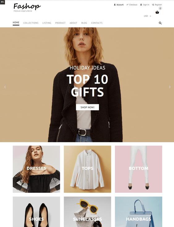 shopify themes womens clothing fashion